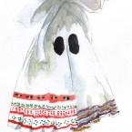 ファッションブランドSTOF「大きな子供服」に提供した''カーテンおばけTシャツ柄''