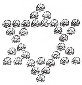 ドクロ手描き六芒星